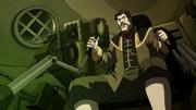 Sato in a mecha tank