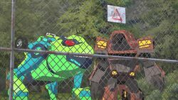 Quillfire and Springload on the Army's Base's Fence