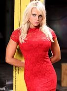 Blonde Aksana Red Dress