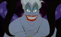 Ursula grinning evilly