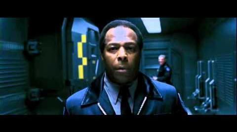 X-Men 3-Mystique taunts security guard