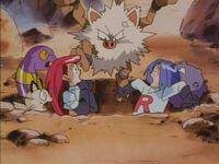 Primeape Attack to Team Rocket
