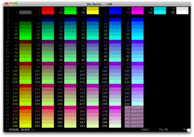 Xterm-color-table