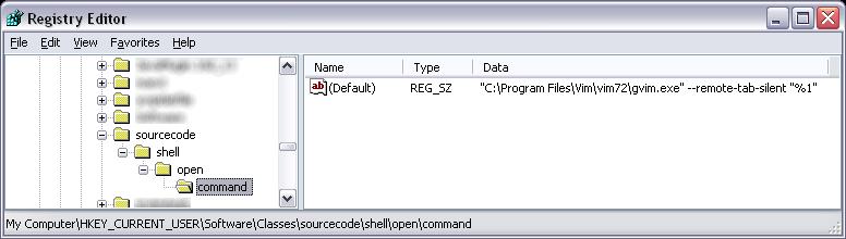 User-specific associations ftype reg key