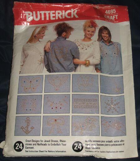 Butterick Craft Pattern 4695 Jewel Stone Rhinestone Designs (2)