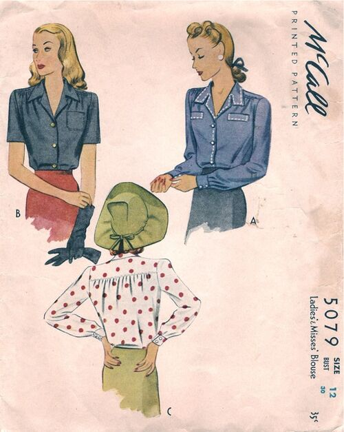 McCall5079 1943 Blouse