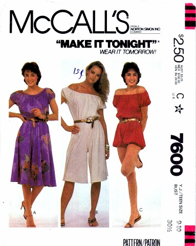 McCalls 1981 7600