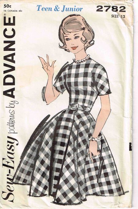 2782 Advance Dress c1950s