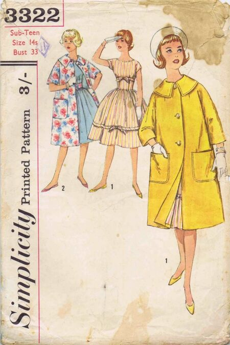 Simplicity 1960 3322