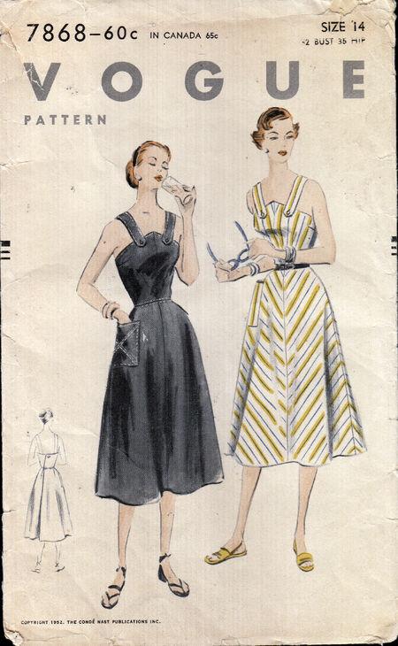 Vintage Vogue pattern from Penelope Rose at Artfire
