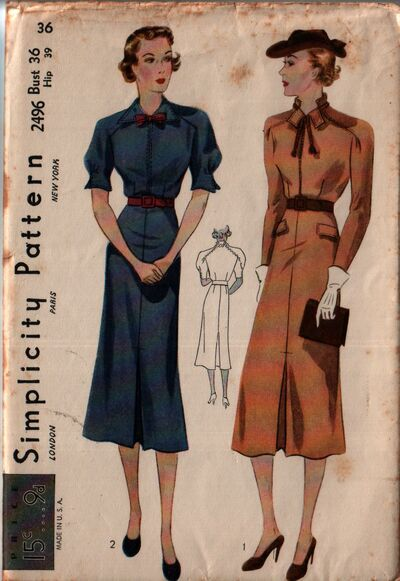 Simplicity 2496 front