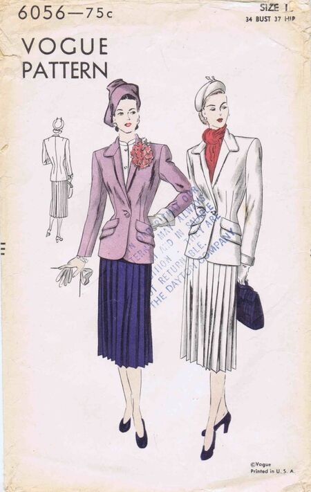 Vogue 1947 6056