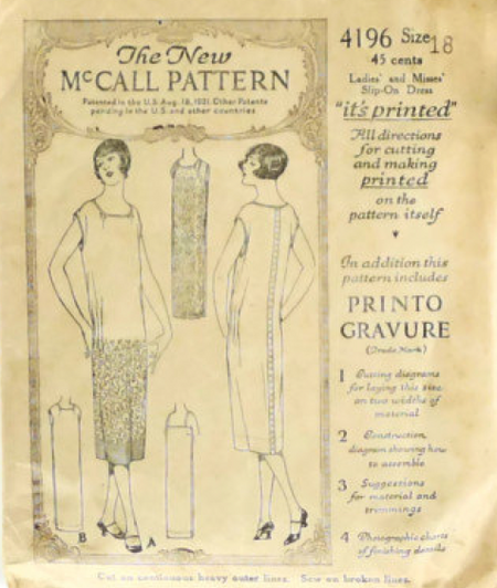 McCalls Sewing Pattern 4196