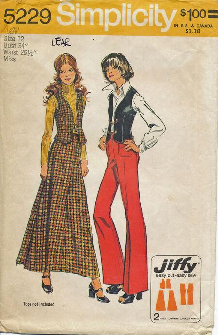 1972 Simplicity 5229 Size 12