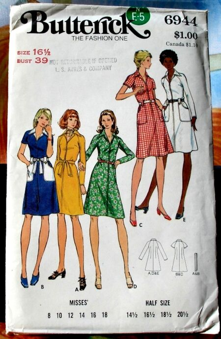 Butterick 6944 A image