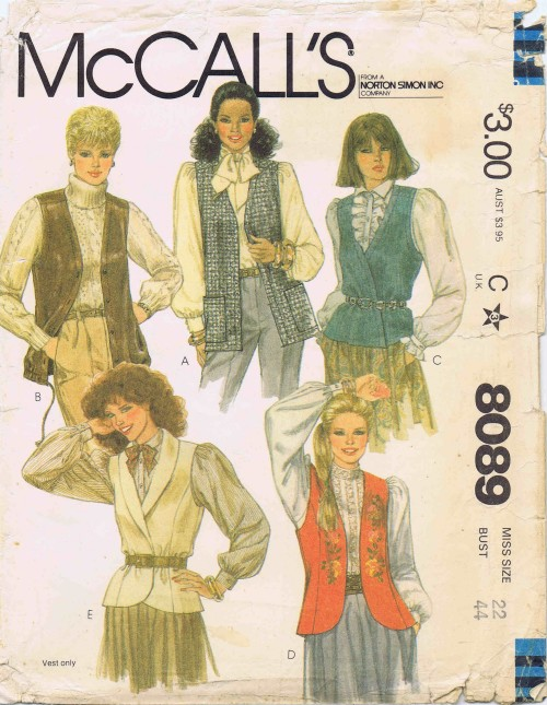 McCalls 1982 8089