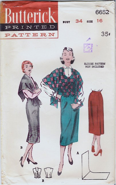 1950's Butterick 6652 front