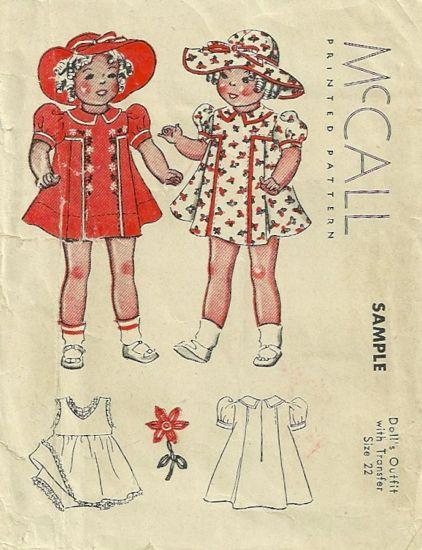 McCall Sample Doll A