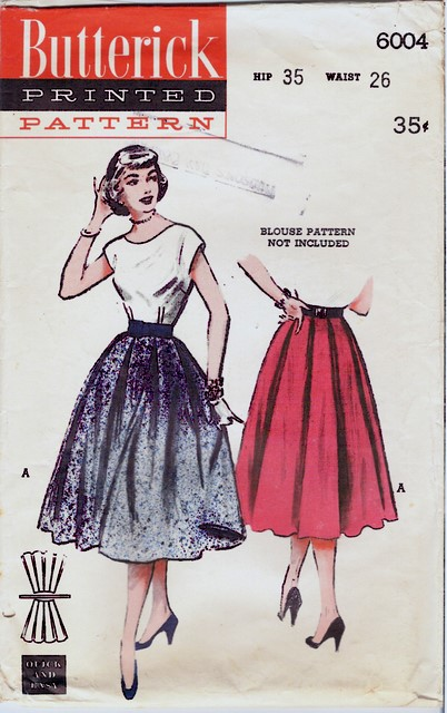 1950's Butterick 6004 front
