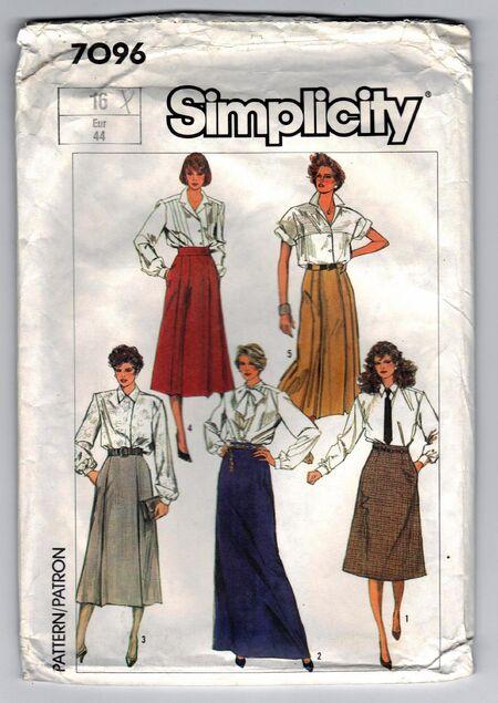 Vintage skirts, five styles, waist 30