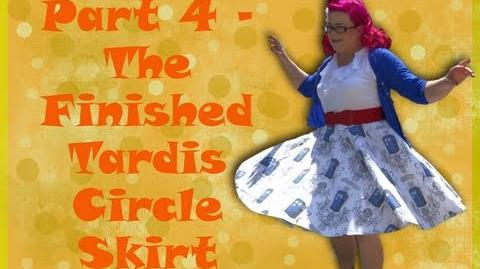 The Finished Skirt Tardis Full 50s Circle Skirt Part 4) So Sew Vintage
