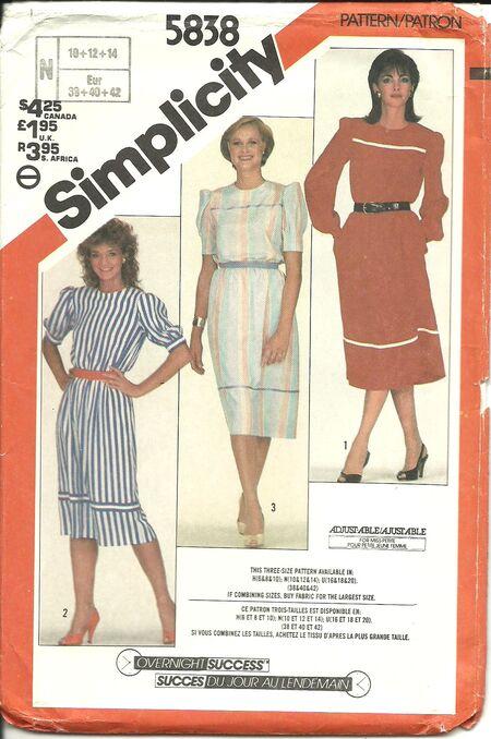 Simplicity 5838 A