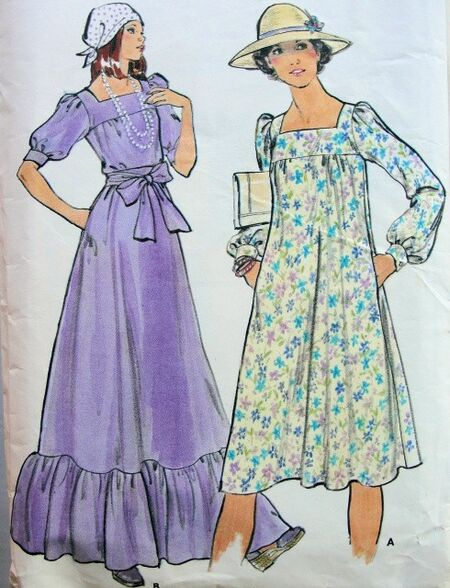 Boho dress pattern