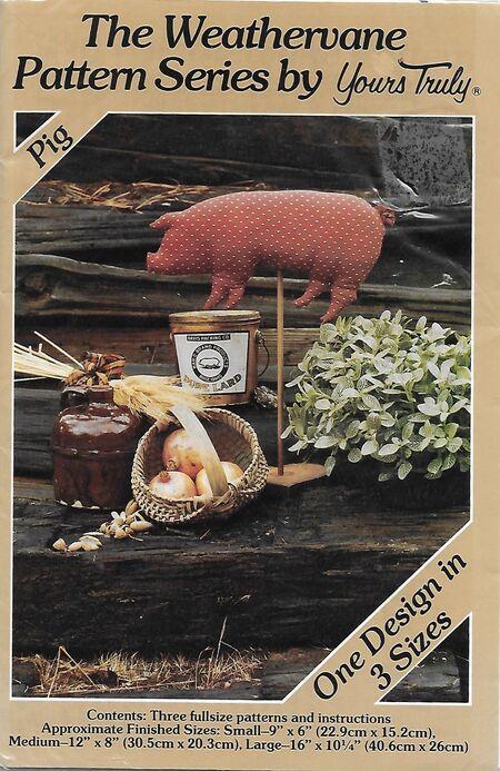 Weather vane pig