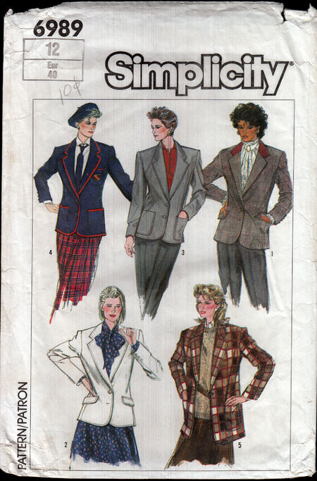 Vintage sewing pattern 1980s Blazer from Penelope Rose at Artfire (2)