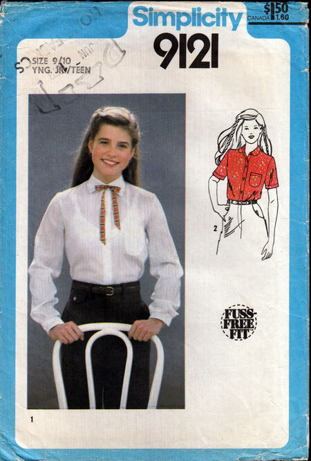 Penelope rose vintage sewing pattern 1970s teen shirt at Artfire
