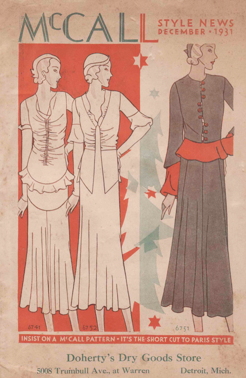 McCall Style News December 1931