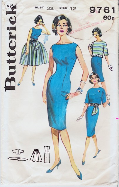 1950s Butterick 9761 front