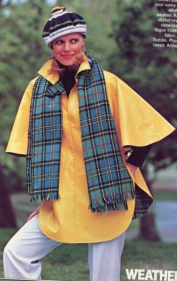 Vogue 9588 vintage poncho coat pattern