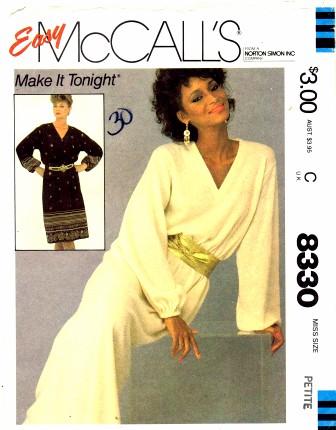 McCalls 1982 8330