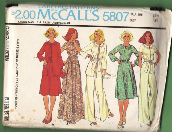 McCall's 5807