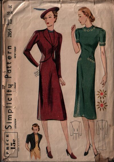 Simplicity 2854 front