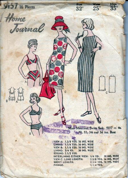 Home Journal 9157 swimsuit dress