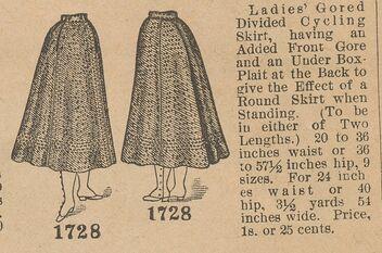 Butterick 1728 cycling skirt