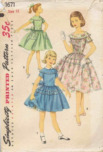 Simplicity 1956 1671