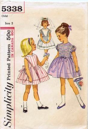 Simplicity 1963 5338 F Size 5