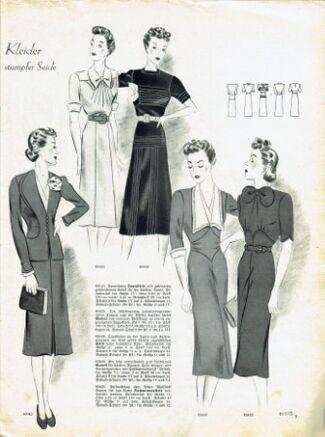 Praktische Damen und Kinder Mode 1938 0007