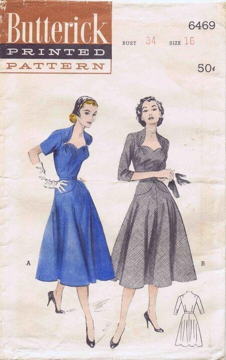 Butterick 1958 6469