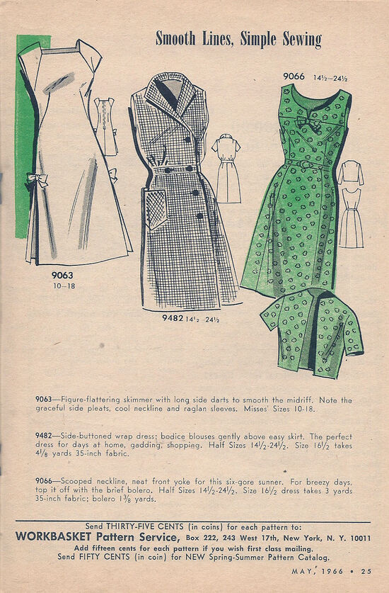 Vintage 1960s Dress Patterns