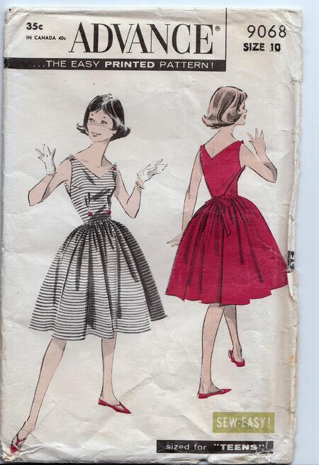 Vintage 1950s dress pattern Penelope Rose (17)