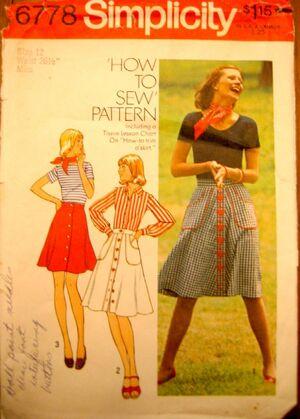 Simplicity6778 Skirt-1974