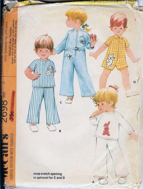 W-2698M 1970 Toddler-PJs