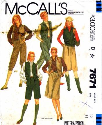 McCalls 1981 7671