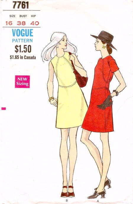 Vogue 7761 ('60s Dress) image