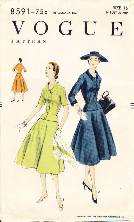 Vogue 8591 (1955) scan