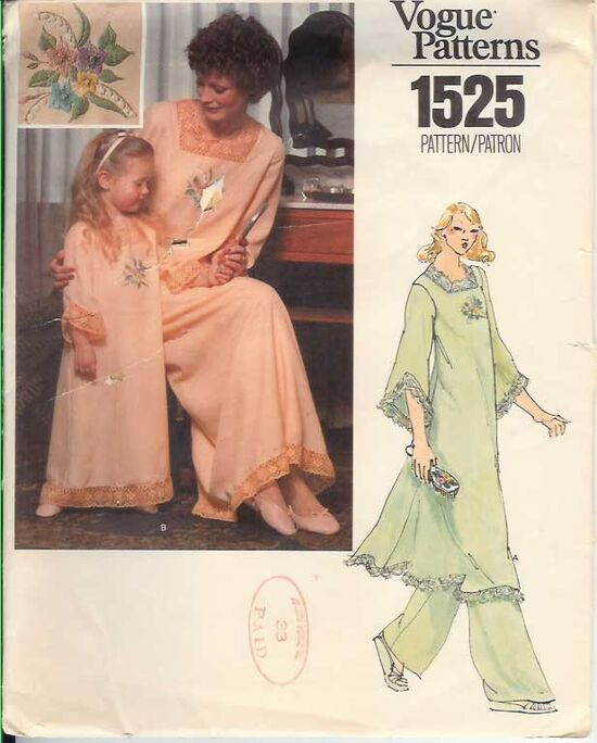 W-1525V 1970s Nightgown